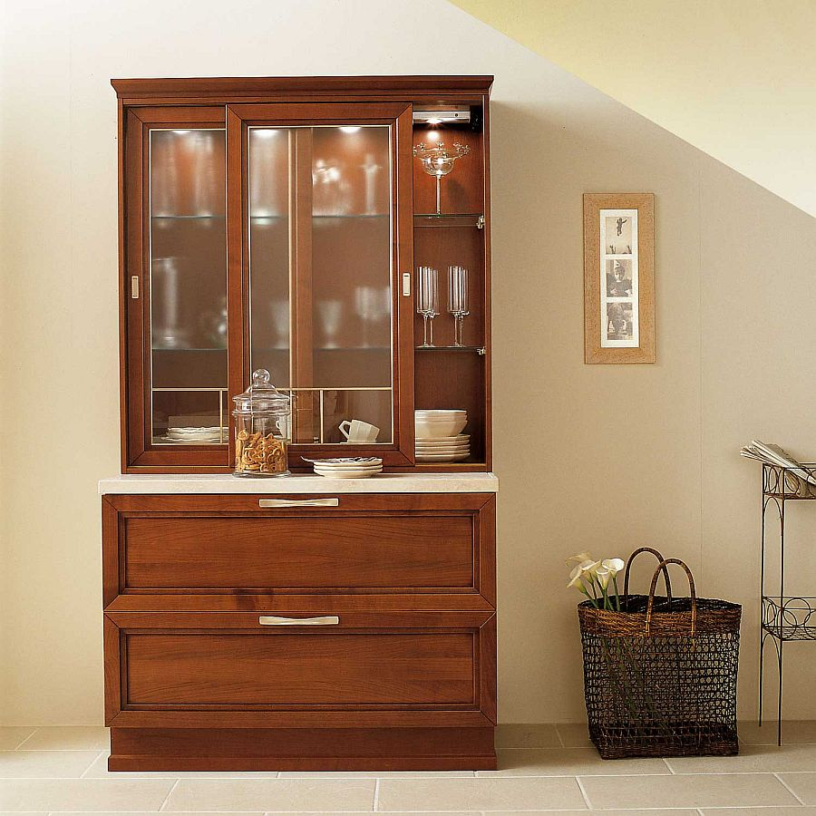 Standalone dresser unit for the classy modern kitchen