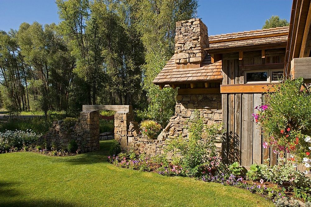 Stone and timber add classic charm to the rustic family getaway