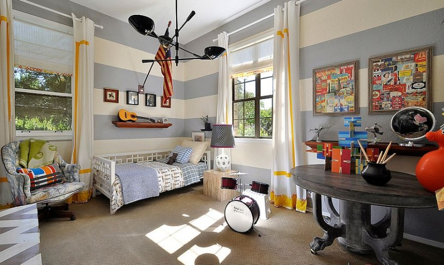 Fun Neutrals: 25 Cool Kids' Bedrooms That Charm with Gorgeous Gray