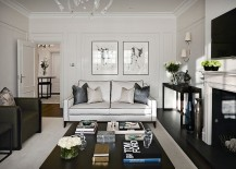 Styling the black coffee table with contemporary panache