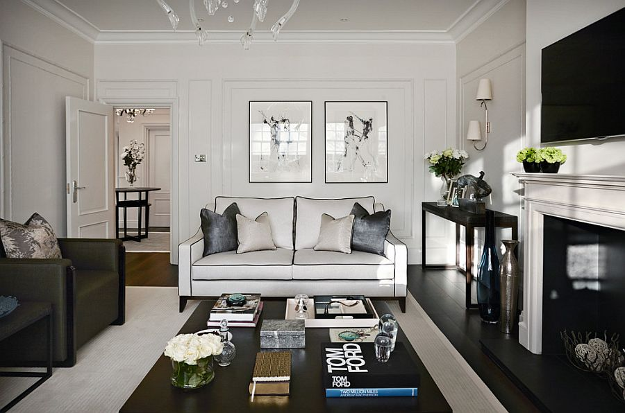 Styling the black coffee table with contemporary panache [Design: Boscolo Interior Design]