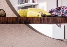 Stylish-combination-of-floating-shelf-and-round-mirror-217x155