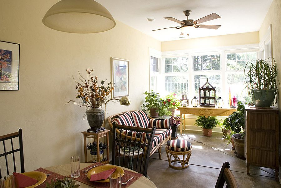 Sunroom need not be about all glass, all the time!