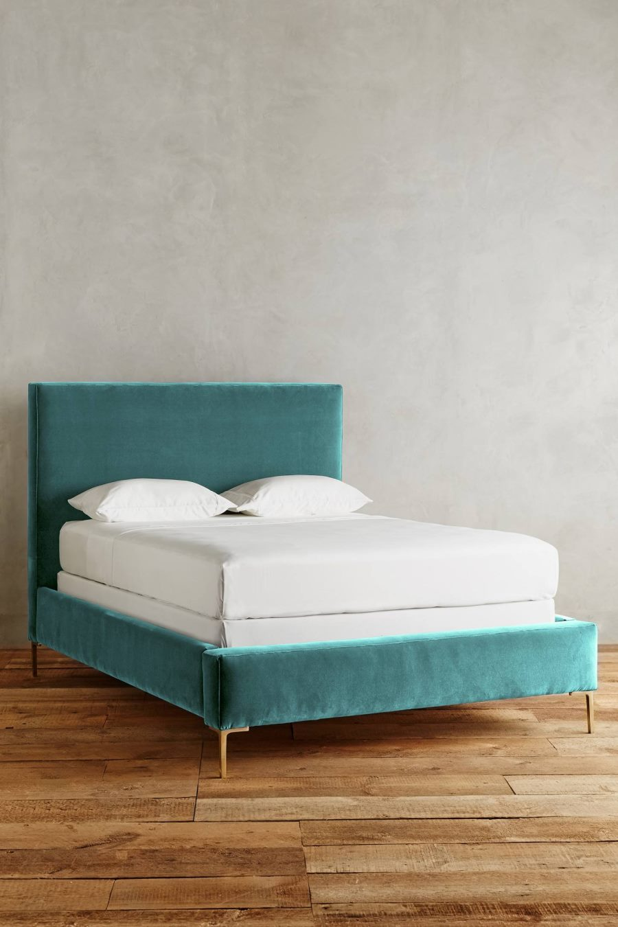 View In Gallery Teal Velvet Bed From Anthropologie