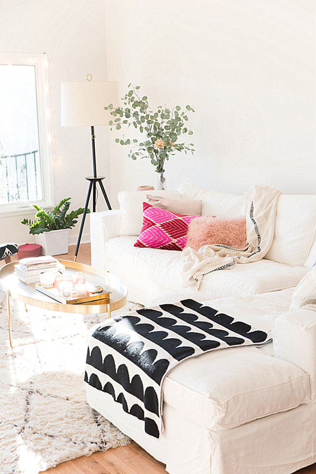The living room of Design Love Fest blogger Bri Emery
