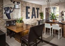 Thin brick veneer for the contemporary kitchen [Design: Coronado Stone Products]