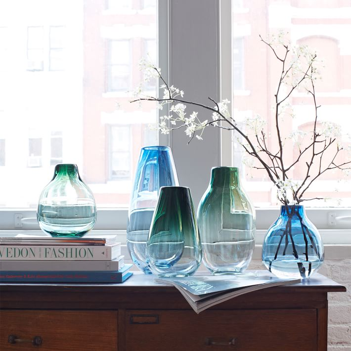 Tinted glass vases from West Elm