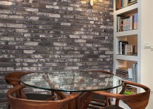 Tiny contemporary dining space of small modern apartment [Design: dana shaked interior design studio]