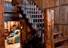 Treet-trunk-turned-into-a-newel-post-adds-to-the-rustic-character-of-the-staircase-217x155