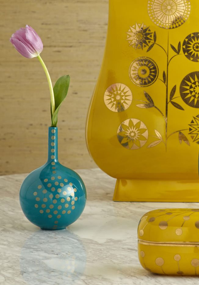 Turquoise bud vase from Jonathan Adler