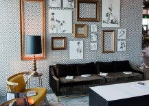 Unique-living-room-uses-unframed-sketches-and-empty-picture-frames-as-snazzy-decorative-pieces-217x155