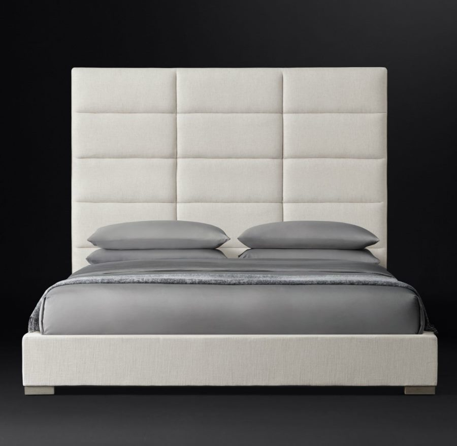 Upholstered bed from RH Modern