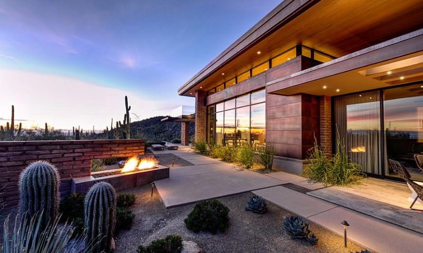 Damon Residence: Beating the Desert Heat with Adobe Walls and Sleek Overhangs