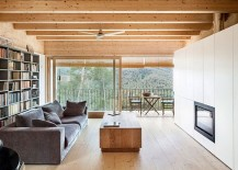 Use of ecolocgically sound materials shapes the fabulous home in Spanish mountains