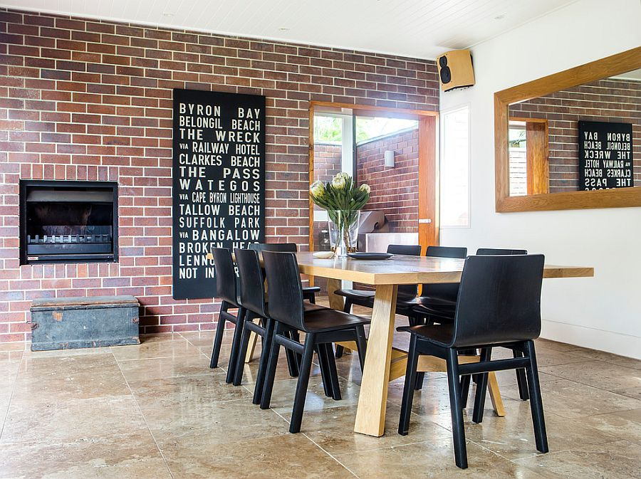 the brick dining room | 50 Bold and Inventive Dining Rooms with Brick Walls