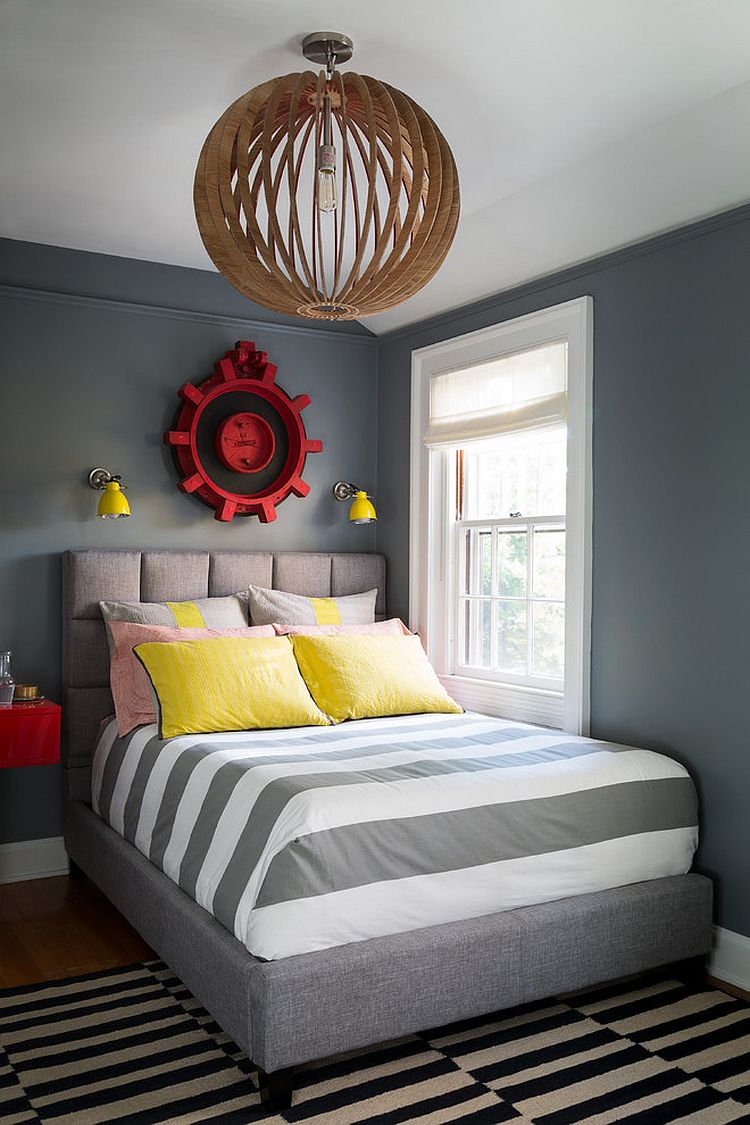 Grey Twin Bed Boys Room