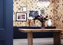 Wallpaper-plays-up-the-charm-of-aged-newspapers-inside-this-elegant-home-office-217x155