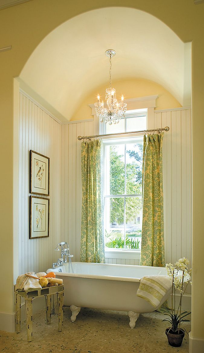 Warm and inviting bathroom seems like a relaxing personal sanctuary [Design: Tongue & Groove]