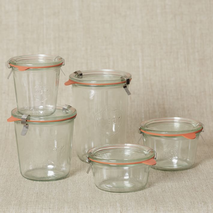 Weck glass jars from West Elm