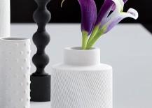 White modern vase from CB2