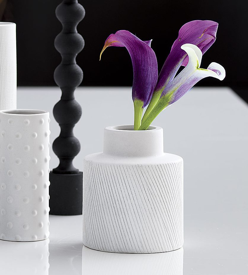 White modern vase from CB2