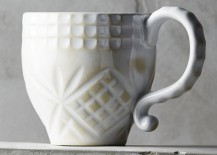 White mug from Anthropologie