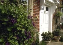 White painted front door