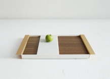 Wood, aluminum and marble tray from Ladies & Gentlemen Studio
