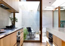 Wood and exposed concrete used to fashion a modern Aussie family home