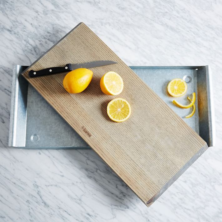 Wood and steel serving tray from West Elm