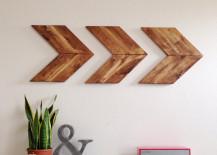Wood arrow wall art 217x155 15 Striking Ways to Decorate with Arrows