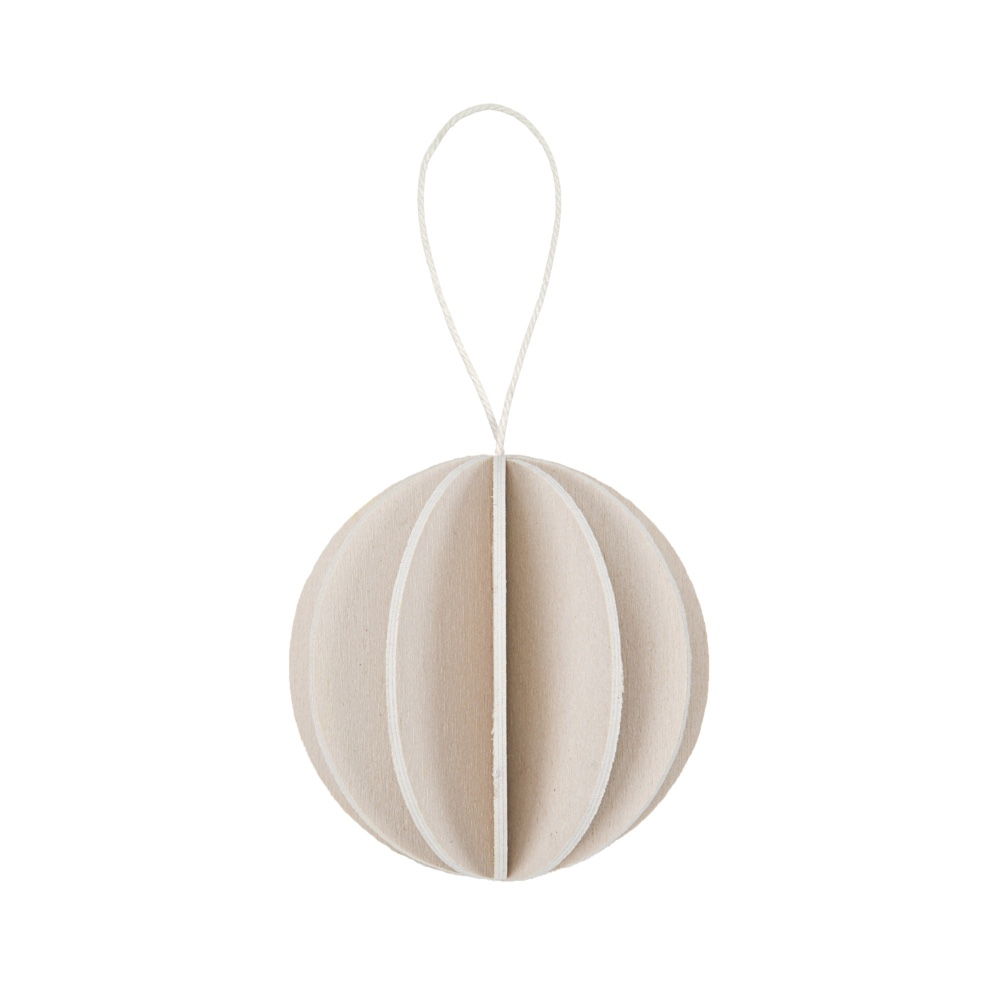 Wooden bauble natural