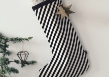 ferm LIVING strip stocking 217x155 10 Christmas Stockings with Modern Style