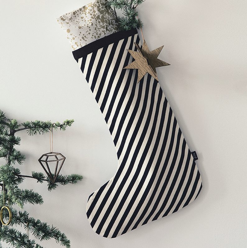 view in gallery ferm living striped stocking - Striped Christmas Stockings