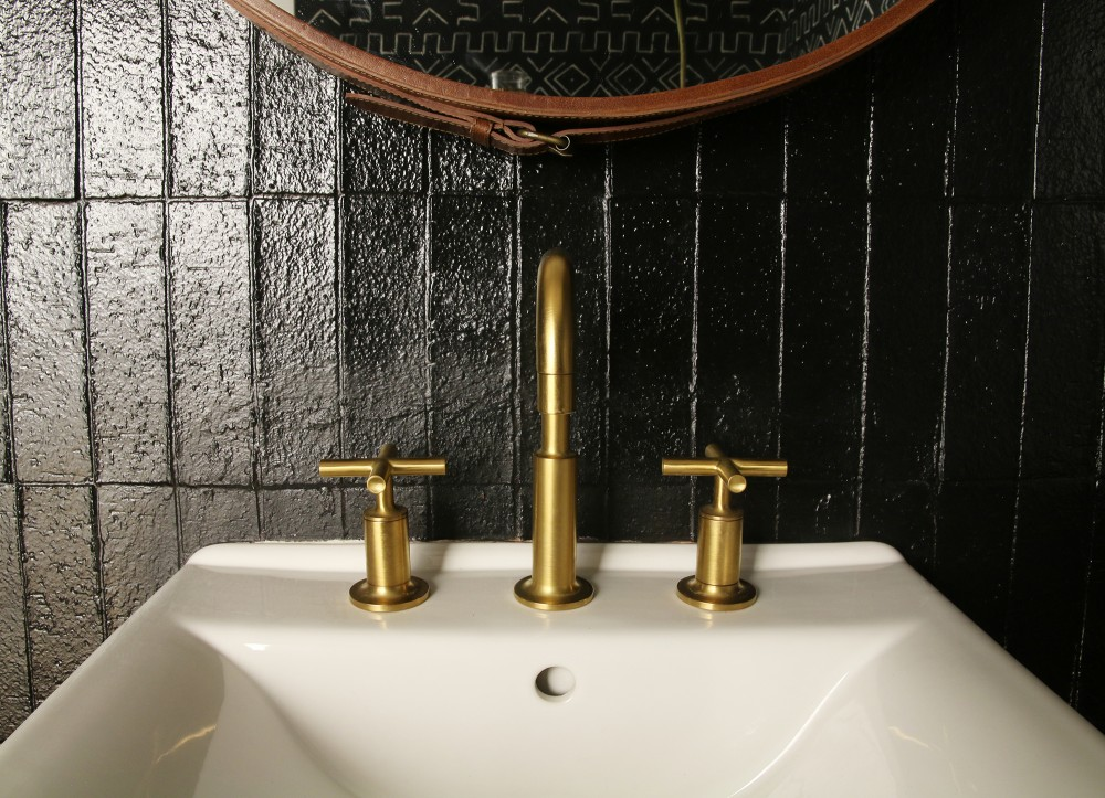 A new faucet will freshen the powder room