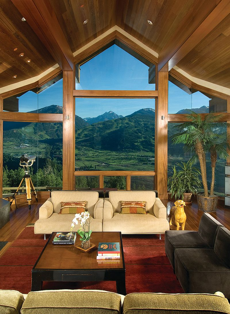 A perfect way to frame the majestic mountain view [Design: Charles Cunniffe Architects Aspen]