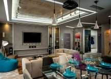 Dark Indulgence: Sophisticated Footballer's Apartment in Lviv