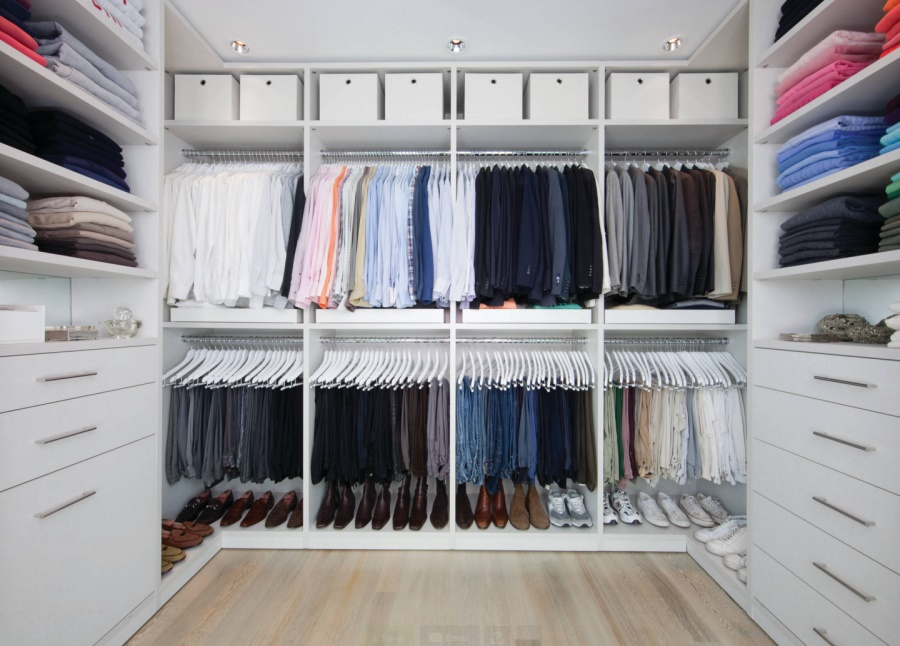 A tidy closet simplifies morning routines