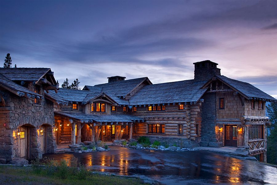 Amazing mountain retreat in Yellowstone Club, Big Sky by Lohss Construction