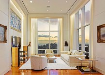 Amazing view of New York City skyline and the UN headquarters from the posh apartment 217x155 Breathtaking Opulence: Posh New York City Penthouse Leaves You Awestruck