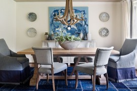 An easy way to add color to the dining room
