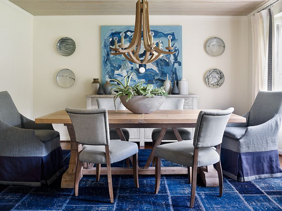 An easy way to add color to the dining room [Design: Anna Braund]