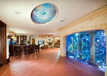 Awesome aquarium is the showstopper in this expansive basement