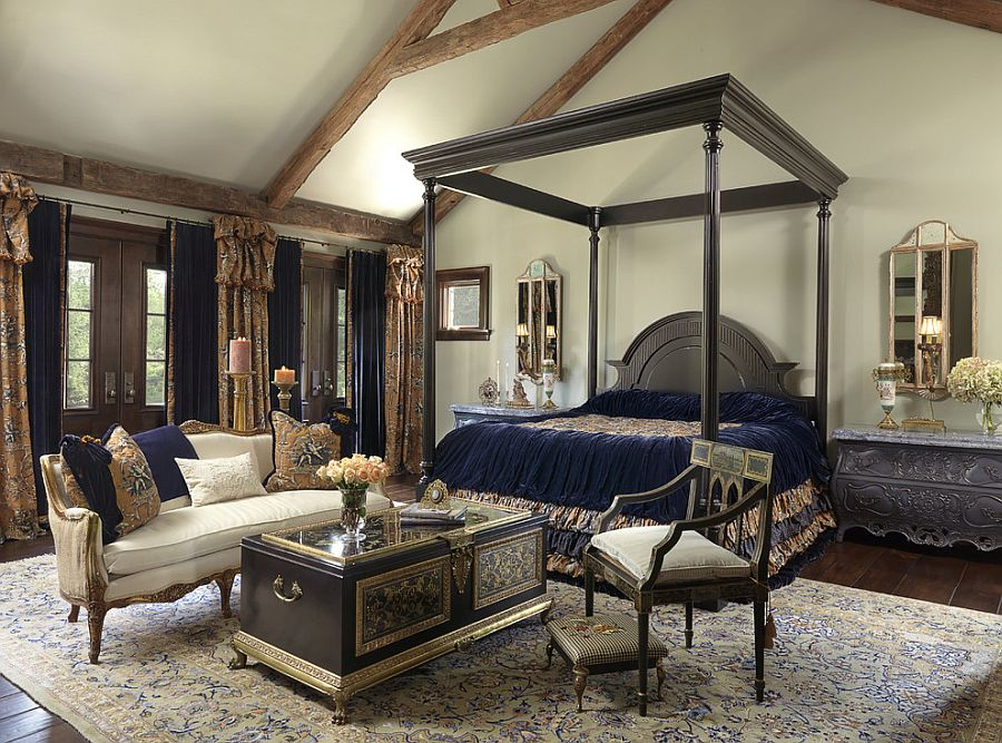 Awesome coffee table steals the show in this bedroom [Design: Edwin Pepper Interiors]