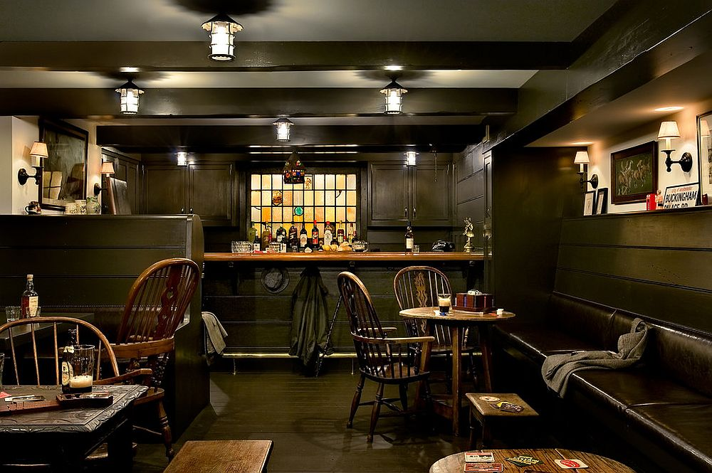 Basement pub has an undeniable old world charm! [Design: Crisp Architects]