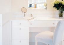 Bathroom vanity with comfy seating