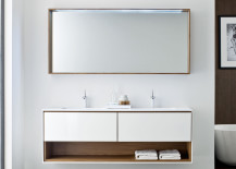 Bathroom vanity with storage from Nella Trevina 217x155 The Luxury Look of High End Bathroom Vanities