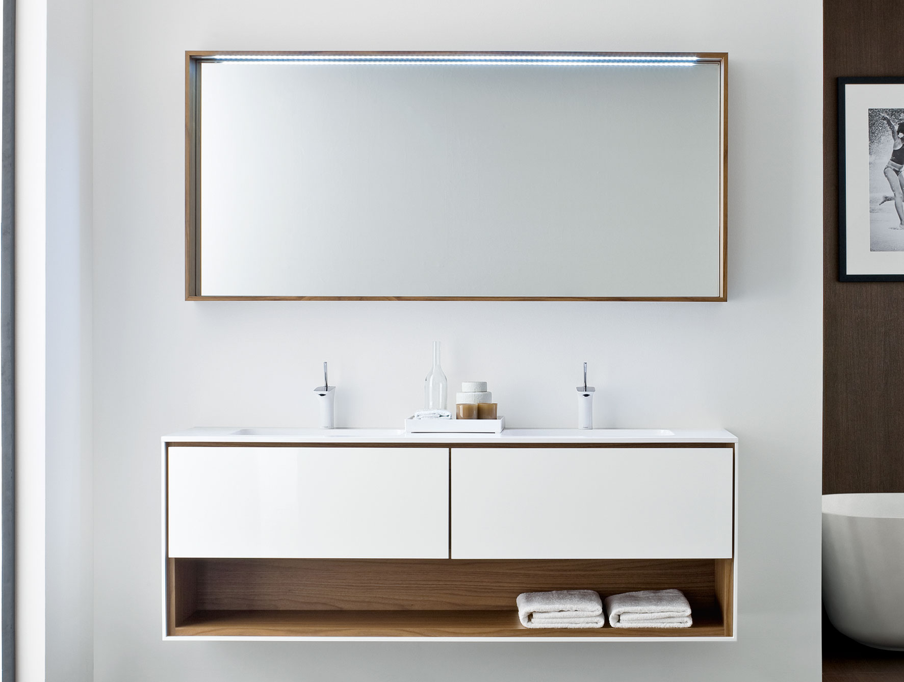 Bathroom vanity with storage from Nella Vetrina
