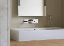 Bathroom vanity with under-sink storage