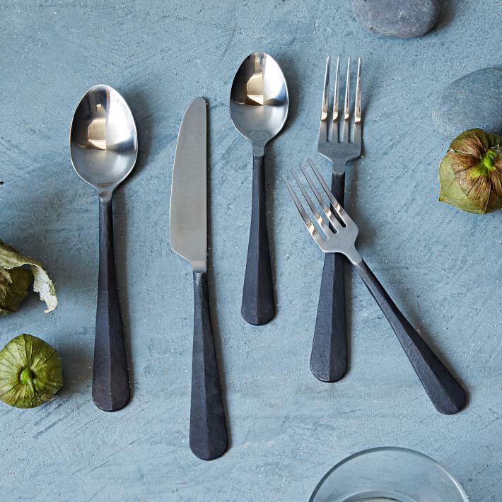 Blackened flatware from West Elm